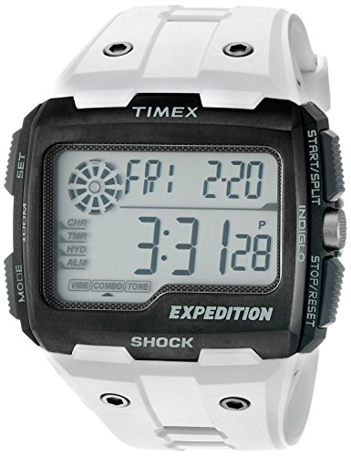 Timex Men's TW4B04000 Expedition Grid Shock White Resin Strap Watch