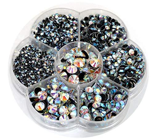 (BLINGINBOX Hotfix Rhinestone 28 Colors to Choose 3000pcs Mixed Sizes(ss6-ss30) Crystal AB DMC Hot Fix Glass Rhinestone)