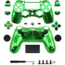 Gotor® Electroplating Green Replacement Parts Full PS4 Controller Housing Shell Protective Case Button Kit for PlayStation4 DUALSHOCK 4 Controller