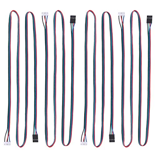 UEETEK 10pcs 3D Printer Stepper Motor Cable Lead Wire HX2.54 4 pin to 6 pin 1M