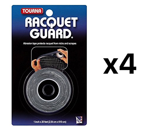 - Tourna Racquet Guard Tape Tennis Head Protection Durable 20 Ft Roll (4-Pack)