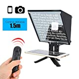 Teleprompter, 5 inch Portable Smartphone Wireless Control Teleprompter for DSLR Camera and Maximum 6.5 inch Mobile Phone