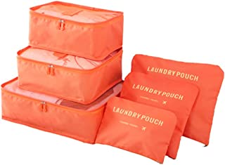 6 pieces of waterproof easy to carry luggage traveling storage bag