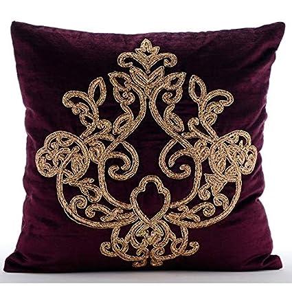 5bd1d8b1af7 Amazon.com  The HomeCentric Handmade Purple Throw Pillows Cover ...