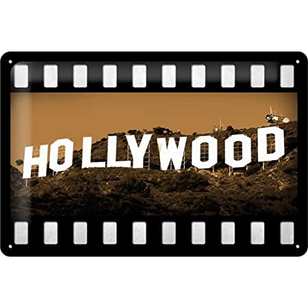 Nostalgic-Art Cartel de chapa 20x30 cm Hollywood - Hollywood ...