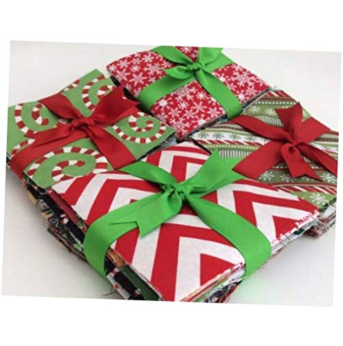 Fabric Christmas Fabric Charm Pack Lot - 100% Cotton Quilt Fabric Pre Cut 2.5