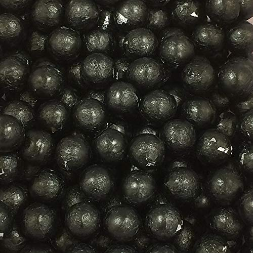 Individually Wrapped Foil Covered Chocolate Caramel Balls in a Variety of Colors - Bulk Wholesale (Jet Black, 2 Pounds) - Cigar Variety Sampler