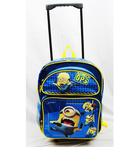 Minions Anti Villain League Large Rolling Backpack SMJAITD Despicable Me