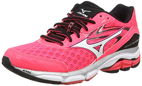 Mizuno Wave Inspire 12, Damen Laufschuhe, Pink (Diva Pink/White/Black), 40 EU (6.5 UK)