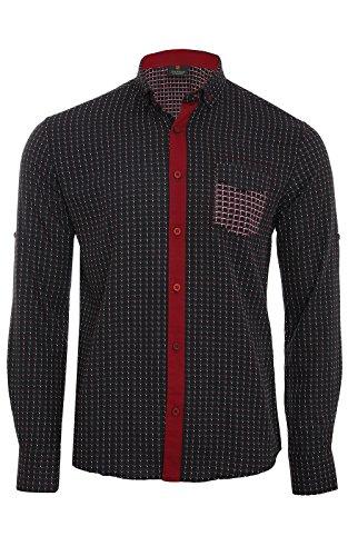 Tazzio Fashion Uomo Camicia a maniche lunghe Uomo G-704