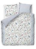 Pip Reversible Percale Bed Linen, Cotton, multicoloured, 135 x 200 cm + 80 x 80 cm