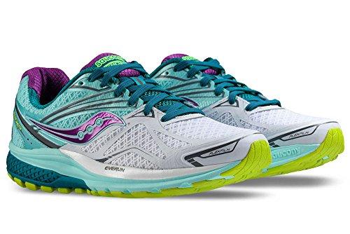 Saucony Bleu Teal Purple Running Ride de Femme Chaussures 9 W White Compétition Ogrq1O