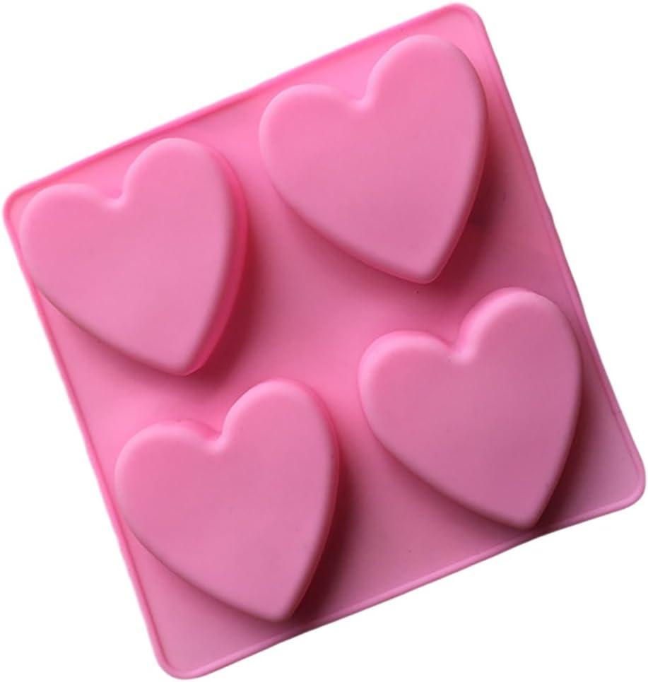 daliuing G/âteau Moule de Silicone Moule Fondant 4-Coeur En Forme de Sucre G/âteau au Chocolat Biscuits Fondant Moule Outils pour Cuisson Cuisine