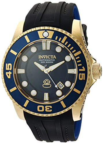 Invicta Men's Pro Diver Stainless Steel Automatic-self-Wind Watch with Silicone Strap, Two Tone, 24 (Model: 20203)