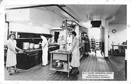 Grand Rapids Michigan kitchen M. J. Clark Memorial Home real photo pc ZC549049