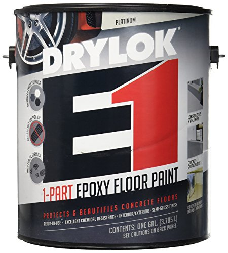 UNITED GILSONITE LAB 23813 Drylok E-1, Gallon, Platinum, 1 Part Epoxy Semi-Gloss Floor Paint