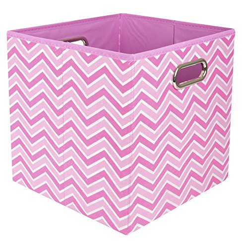 Modern Littles Rose Zig Zag Folding Storage Bin, Pink (Cloth Video Diaper Game)