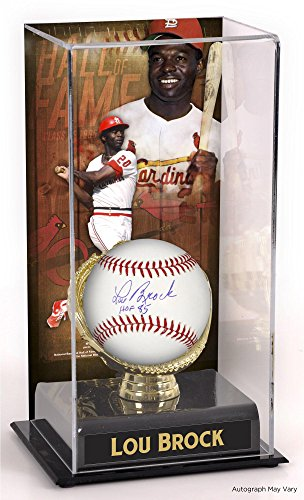 Lou Brock St. Louis Cardinals Autographed Baseball with