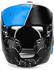 Eosnow Ochraniacz głowy boksu, materiał ze skóry PU dziecięce kaski bokserskie na całą twarz chronią bezpieczeństwo i skuteczność dla szkół sztuk walki dla Muay Thai Sanda i MMA