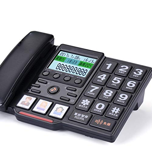 PHONE Big Button Old Phone.Large Screen, Large Buttons, Caller Id, Fast Dial, Ringtone Selection. White Black 245mm180mm ()