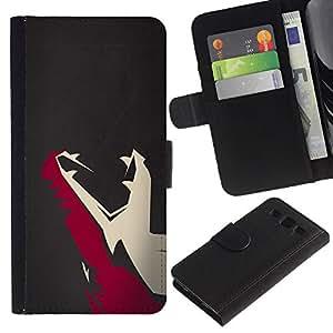 UNIQCASE - Samsung Galaxy S3 III I9300 - Minimalist T Rex Dinosaur - Cuero PU Delgado caso cubierta Shell Armor Funda Case Cover