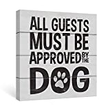 pictures of front doors SUMGAR Front Door Decor Black and Grey Dog Sayings Canvas Wall Art Quotes Ready to Hang,12x12inch