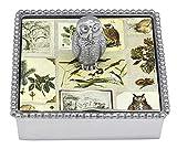 Mariposa Owl Beaded Napkin Box