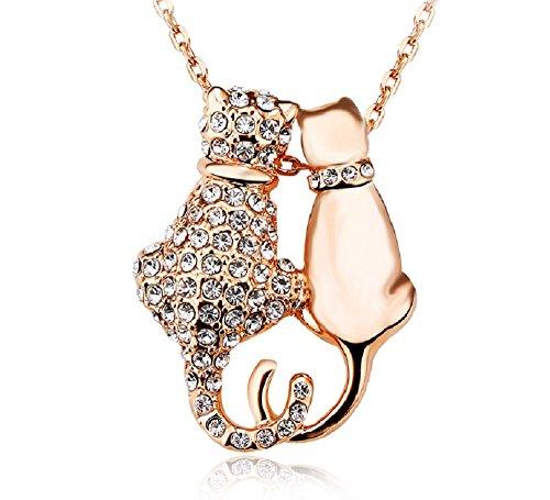 Gold Animals Charm Cat - 6