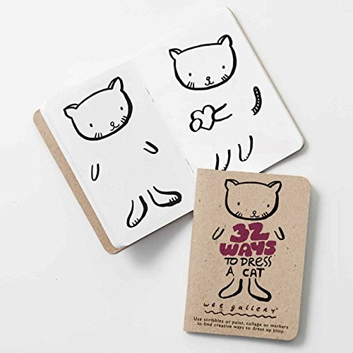 Wee Gallery Relaxing Activity Book, Kids Activity Pad and Coloring Book, 32 Ways to Dress a Cat
