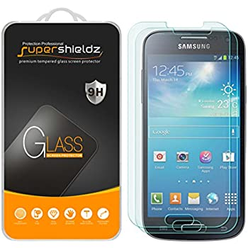 [2-Pack] Supershieldz for Samsung Galaxy S4 Tempered Glass Screen Protector, Anti-Scratch, Anti-Fingerprint, Bubble Free, Lifetime Replacement Warranty