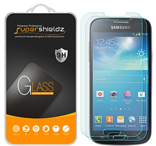Supershieldz (2 Pack) for Samsung Galaxy S4 Tempered Glass Screen Protector, Anti Scratch, Bubble Free (Best Screen Protector For Samsung Galaxy S4)