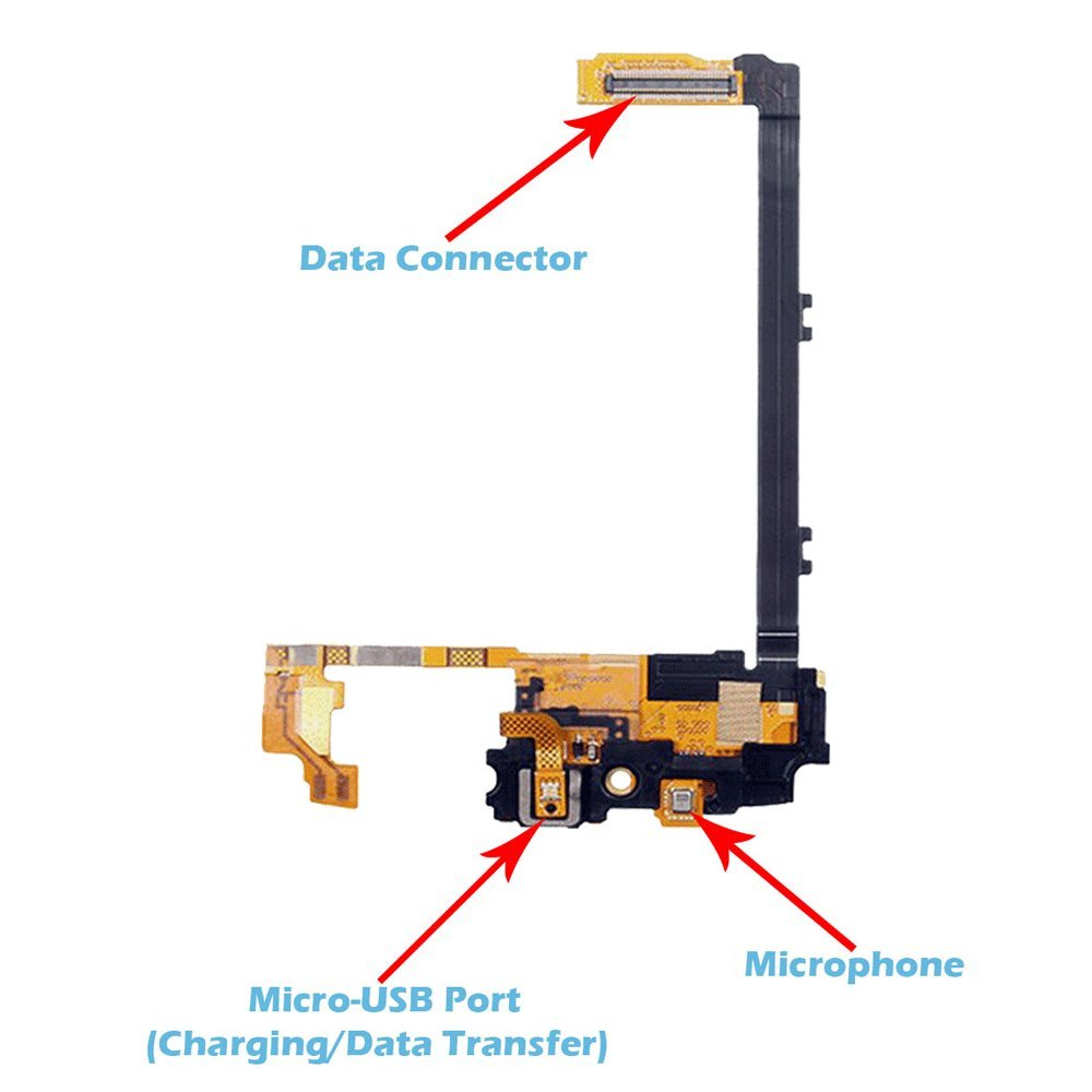 Omnirepairs Usb Charging Dock Port Flex Cable With Nexus One Digitizer Circuit Broken Touch Screen Microphone Assembly Replacement For Lg Google 5 Model D820 D821 And Repair Toolkit