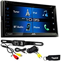 JVC KW-V330BT 6.8 Double DIN Bluetooth In-Dash DVD/CD/AM/FM/Digital Media Car Stereo with Rear View Camera