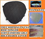 Motorcycle Driver impact Gel Pad Seat for Harley Davidson Electra Glide Models
