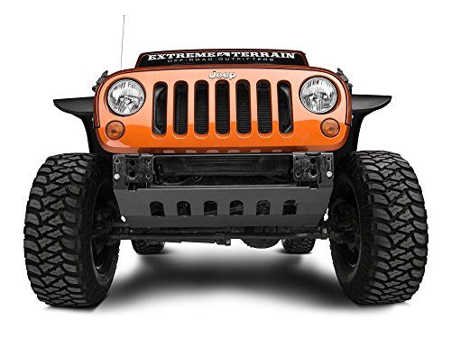 Barricade Front Skid Plate in Textured Black - Jeep Wrangler JK 2010-2018