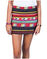 Billabong Sweet Amor Mini Skirt Off Black Multi Junior's Mini Skirt