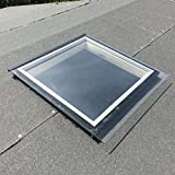 Activent (K4 (48cm x 50cm) Double Glazed Fixed Skylight For Garden Buildings and Sheds
