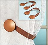 Trenton Gifts Magnetic Curtain Tieback, Creative Hold Back Accessories - Bronze