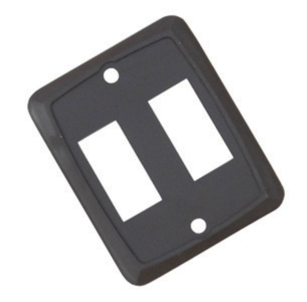 Diamond Group P7218C Brown Double Switch Face Plate