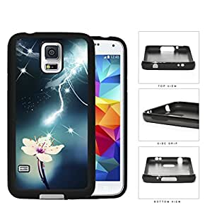 White Orchid Struck By Light Flare Rubber Silicone TPU Cell Phone Case Samsung Galaxy S5 SM-G900