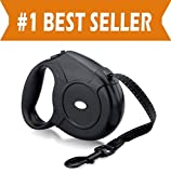 Elegant Comfort 16.4 Feet Nylon Retractable Dog Leash with Nylon Ribbon Cord, Hand Grip, One Button Brake & Lock for Medium Dogs