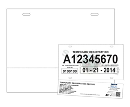 photograph regarding Printable Temporary License Plate named : Print-Geared up License Plate (No-Tear Water resistant