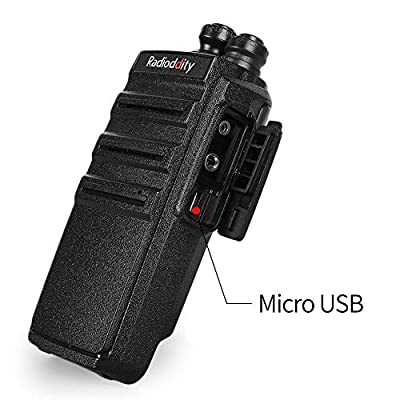 Radioddity GA-2S Long Range Walkie Talkies UHF Two Way Radio Rechargeable with Micro USB Charging + USB Desktop Charger + Air Acoustic Earpiece with Mic, 2 Pack by Radioddity