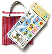 Naipes Gacela Loteria Mexicana Family Set of 20 Boards and Cards with a Free Mini Tote Bag Loteria Mexicana co