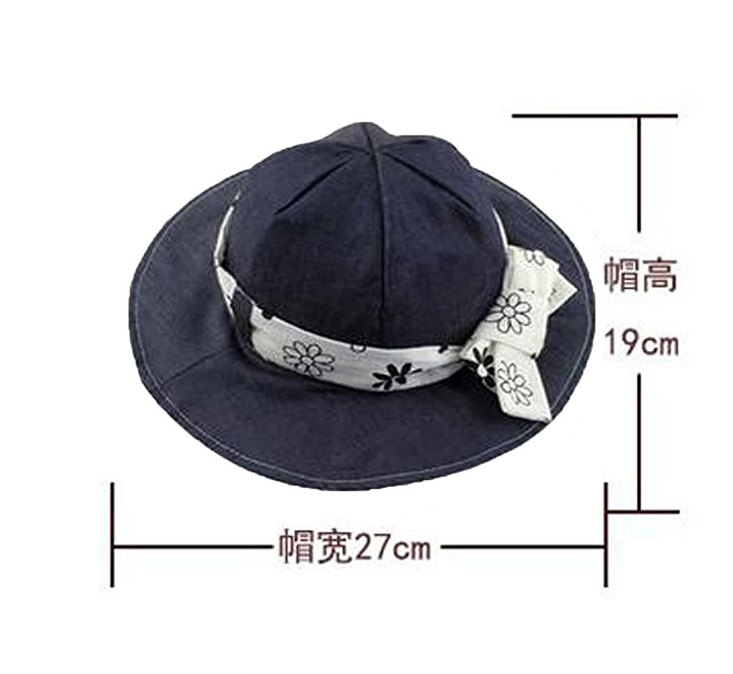 7cdf4d57d3ea8 Amazon.com  Hillento Baby Kids Girls Boys Toddler Fisherman Bucket Hat  Pattern Wide Brim Outdoor Cap Sun Hat