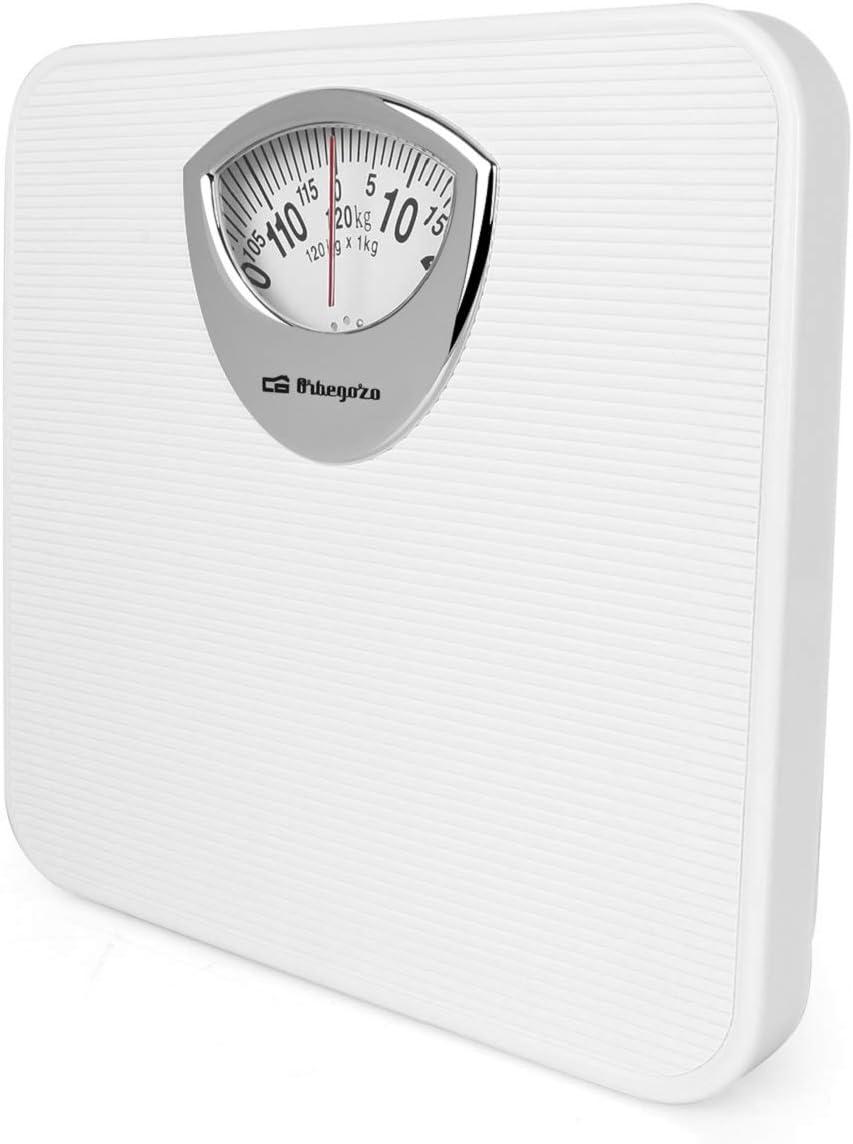 Orbegozo PB 2010 – Báscula de baño mecánica, diseño antideslizante, color blanco: Amazon.es: Salud y cuidado personal