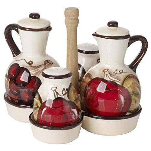 Cucina Italiana Ceramic Oil and Vinegar Bottle Dispenser, used for sale  Delivered anywhere in USA