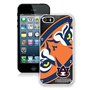 Hot Sale iPhone 5 5S Screen Case ,Southeastern Conference SEC Football Auburn Tigers 4 White iPhone 5 5S Cover Unique And Popular Designed Phone Case