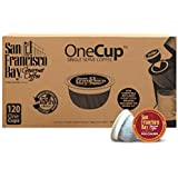 San Francisco Bay OneCup Fog Chaser (120 Count) Single Serve Coffee Compatible with Keurig K-cup Brewers Single Serve Coffee Pods, Compatible with Keurig, Cuisinart, Bunn, iCoffee Single Serve Brewers