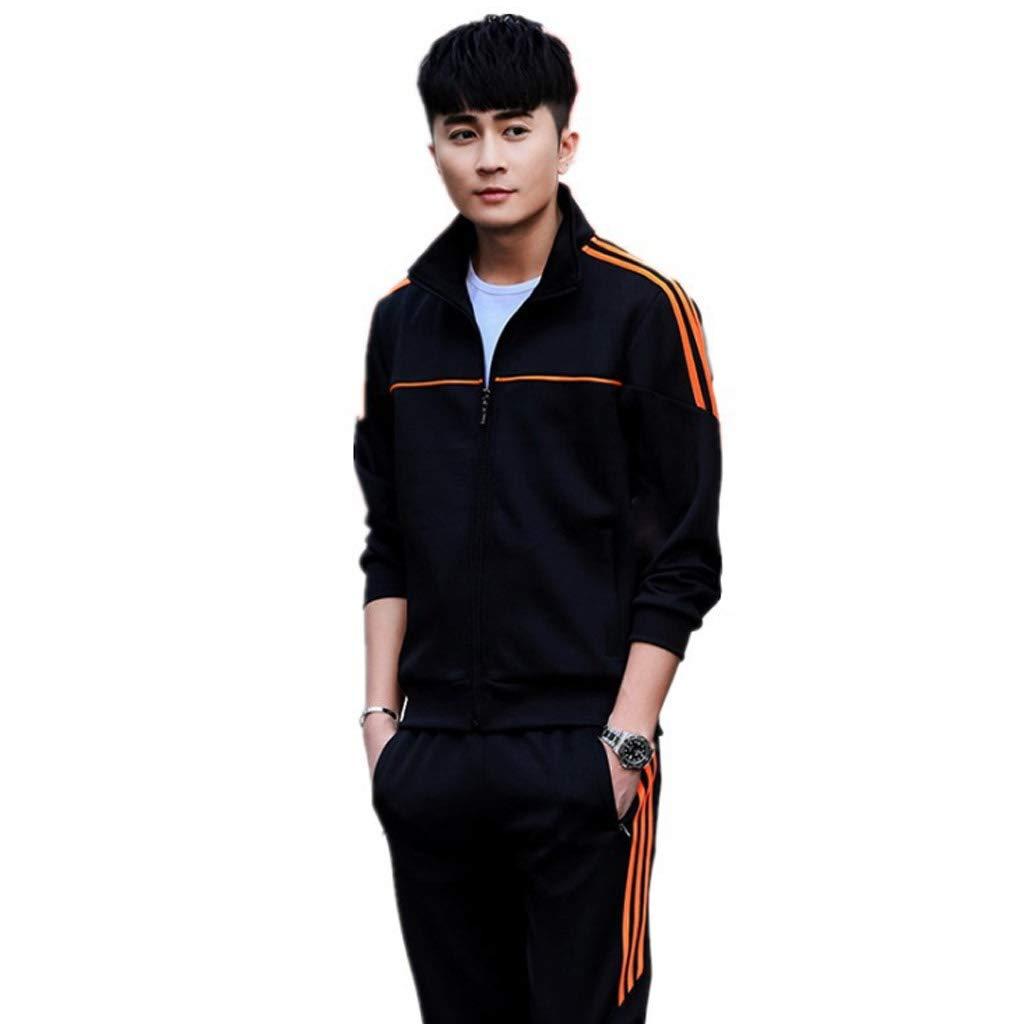Lilongjiao Herren Sportswear Suit Full Open Zipper Top Laufen Fitness Sportswear Sportanzug Elastische Taillenhose